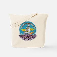 uss bon homme richard cv patch transparen Tote Bag