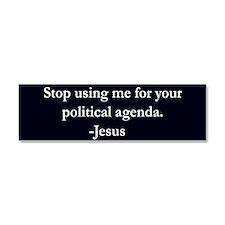 Political Agenda Car Magnet 10 x 3