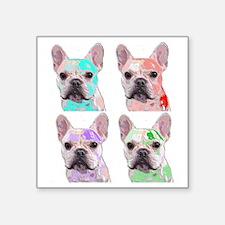 "Plasticized Ted Square Sticker 3"" x 3"""