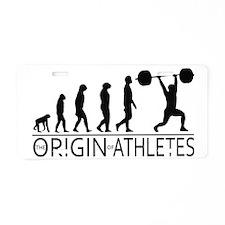 The Origin of Athletes Aluminum License Plate
