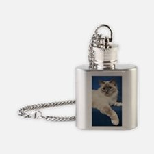 Birman Cat Note Card Flask Necklace