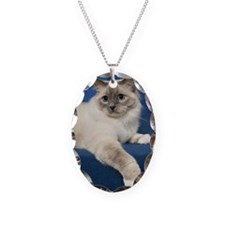 Birman Cat Note Card Necklace
