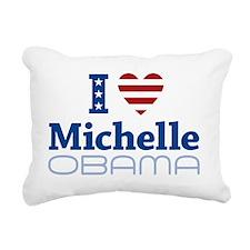 I love Michelle Obama Rectangular Canvas Pillow