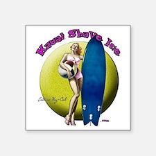 "KSI Beach Girl Square Sticker 3"" x 3"""