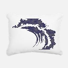 Wave Rectangular Canvas Pillow