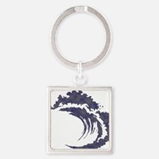 Wave Square Keychain