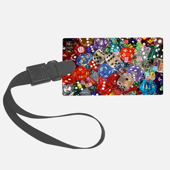 Lets Roll - Colourful Dice Luggage Tag