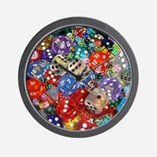 Lets Roll - Colourful Dice Wall Clock