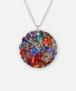 Lets Roll - Colourful Dice Necklace