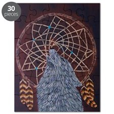 Wolf with Dreamcatcher Puzzle