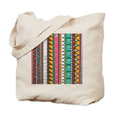 Colorful Tribal Pattern Tote Bag