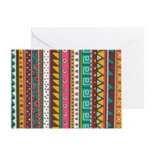 Colorful Tribal Pattern Greeting Card