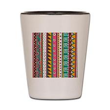 Colorful Tribal Pattern Shot Glass