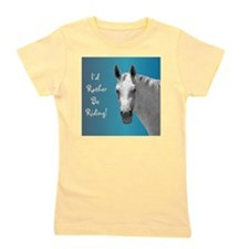 Id Rather Be Riding Horse Girl's Tee