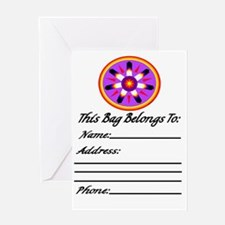 EAGLE FEATHER MEDALLION Greeting Card