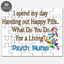 Psych Nurse I spend HAPPY PILLS Puzzle