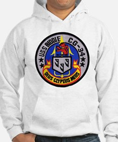uss biddle cg patch transparent Hoodie