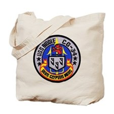 uss biddle cg patch transparent Tote Bag