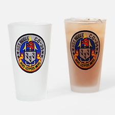 uss biddle cg patch transparent Drinking Glass