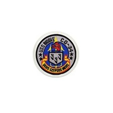 uss biddle cg patch transparent Mini Button