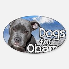Dogs for Obama Decal