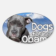 Dogs for Obama Sticker (Oval)