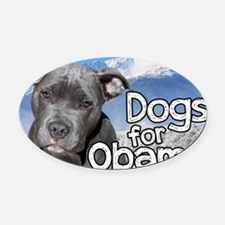 Dogs for Obama Oval Car Magnet