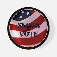 Sluts Vote Wall Clock