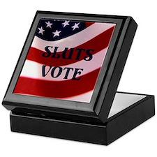 Sluts Vote Keepsake Box