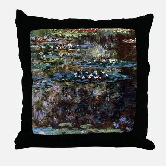 Water garden at Giverny Throw Pillow