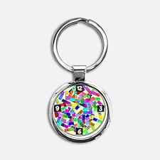 psych nurse clock yellow Round Keychain