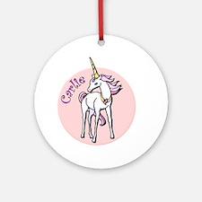 Carlie Unicorn Ornament (Round)