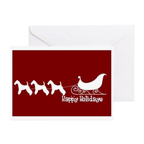 """Wire Fox """"Sleigh"""" Greeting Cards (Pk of 10)"""