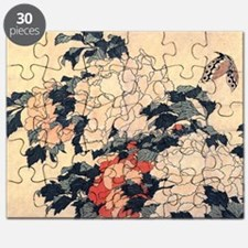 Hokusai Peony and Butterfly Puzzle