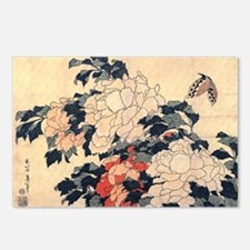 Hokusai Peony and Butterf Postcards (Package of 8)