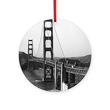 Vintage Golden Gate Bridge Round Ornament