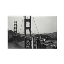 Vintage Golden Gate Bridge Rectangle Magnet