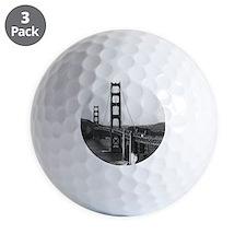 Vintage Golden Gate Bridge Golf Ball