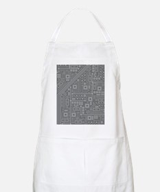 Gray Circuit Board Apron