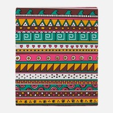 Colorful Tribal Pattern Throw Blanket