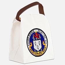 uss biddle dlg patch transparent Canvas Lunch Bag