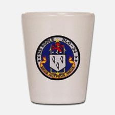 uss biddle dlg patch transparent Shot Glass