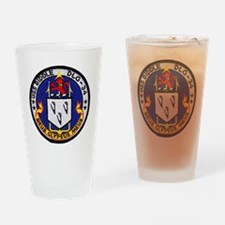 uss biddle dlg patch transparent Drinking Glass