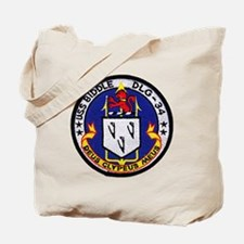uss biddle dlg patch transparent Tote Bag