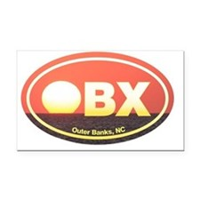 OBX Outer Banks Sunset Rectangle Car Magnet