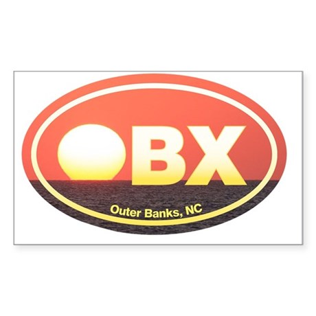OBX Outer Banks Sunset Sticker (Rectangle)