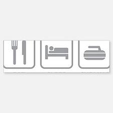 EatSleepCurling1C Bumper Bumper Sticker