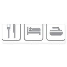 EatSleepCurling1C Bumper Sticker