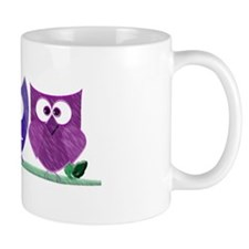 Cute Owls and Heart Mug