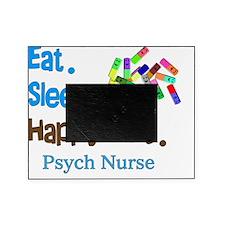 Eat Sleep Happy Pills blue brown LAR Picture Frame